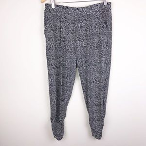 Express Jogger Print Pants With Pockets